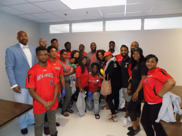 NFL Players Visit Maya Angelou Learning Campus